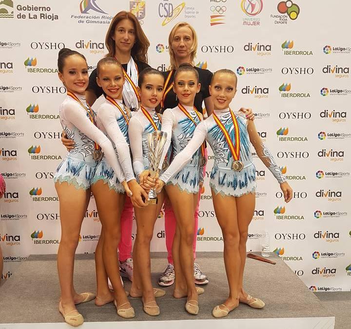 El conjunto alevín de Gimnasia Rítmica consigue el subcampeonato de España por comunidades en Logroño