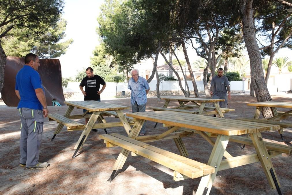 Punto de encuentro juvenil en el parque por la paz Johan Galtung en l'Alfàs