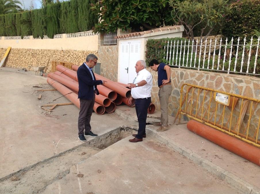 Última fase de las obras en la urbanización El Cautivador de l'Alfàs