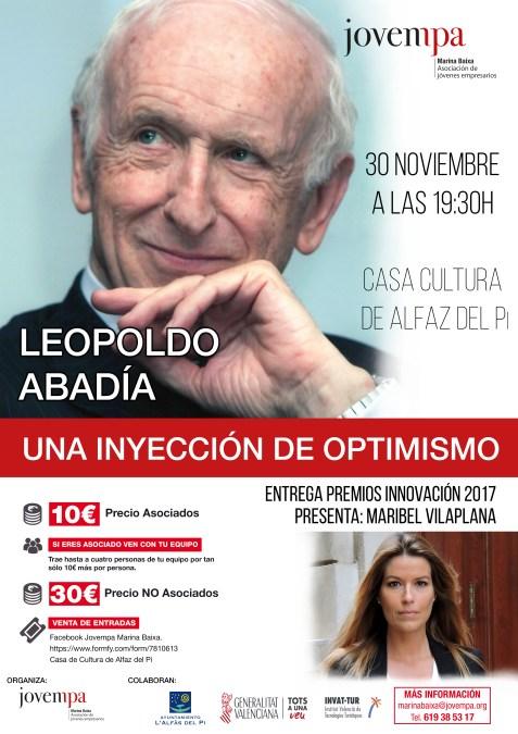 El gurú económico Leopoldo Abadía llega a l'Alfàs con una inyección de optimismo