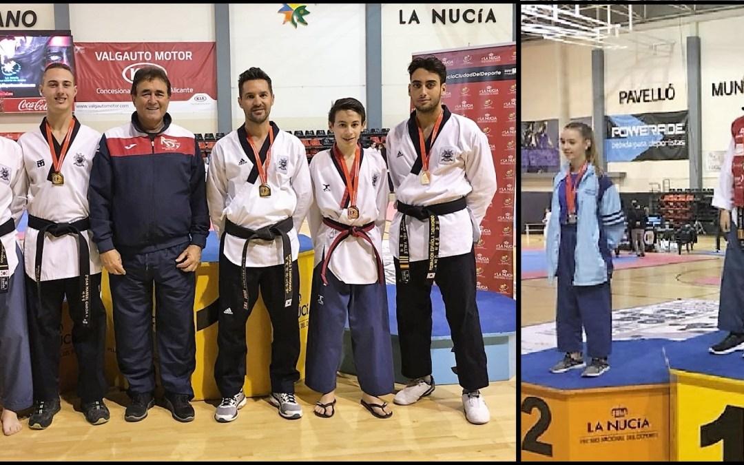 Cinco oros y un bronce para los alfasinos que han participado en el  Campeonato de de la Comunidad Valenciana  de Taekwondo.