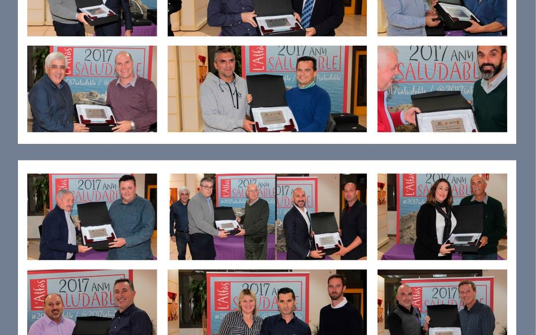 Una exposición gráfica conmemora los 25 años de la Gala del Deporte que este año se cumplen en l'Alfàs del Pi.