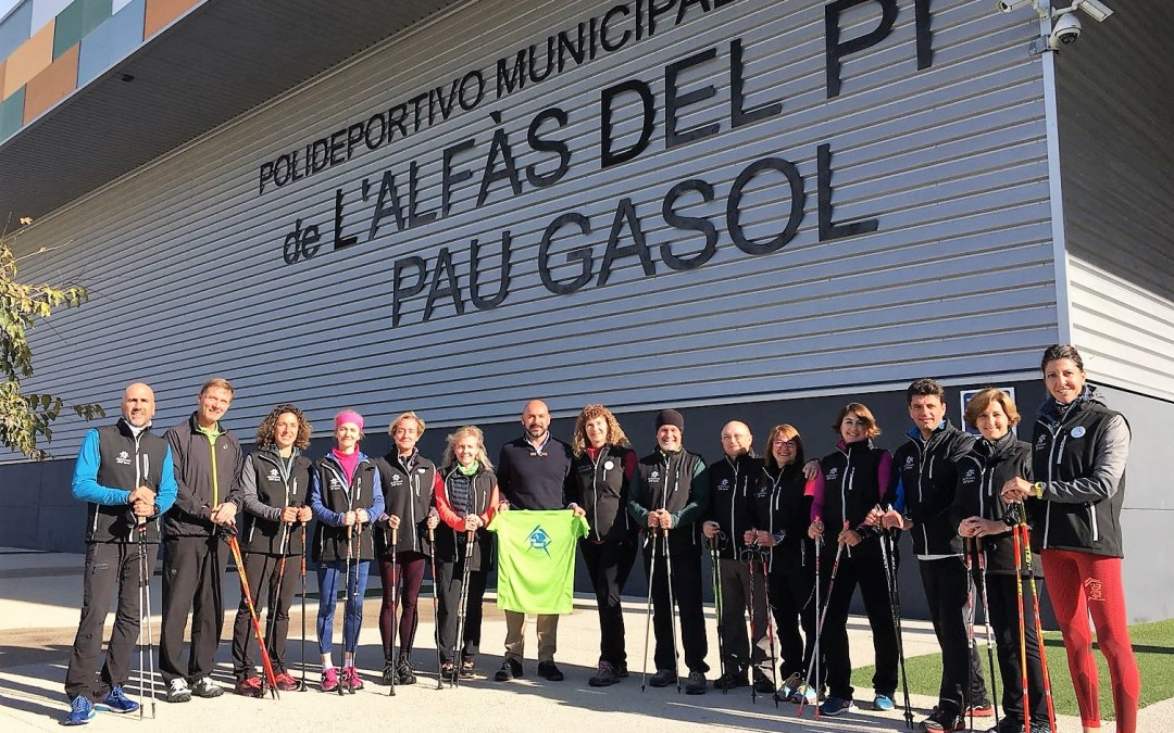 L'Alfàs del Pi vuelve  a ser sede  cursos nacionales de formación de Nordic Walking .