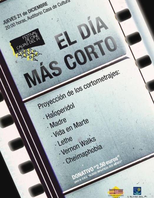 L'Alfàs se suma a 'El día más corto' con la proyección de los cortometrajes ganadores del XXIX Festival de Cine