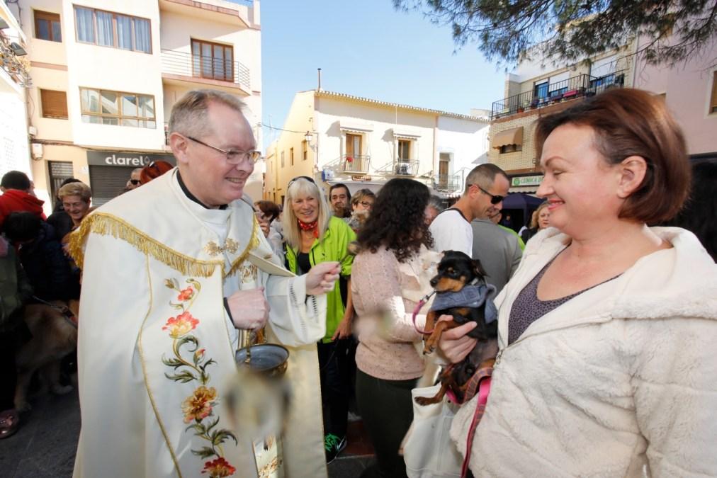 Más de 200 animales reciben en l'Alfàs la bendición de San Antón