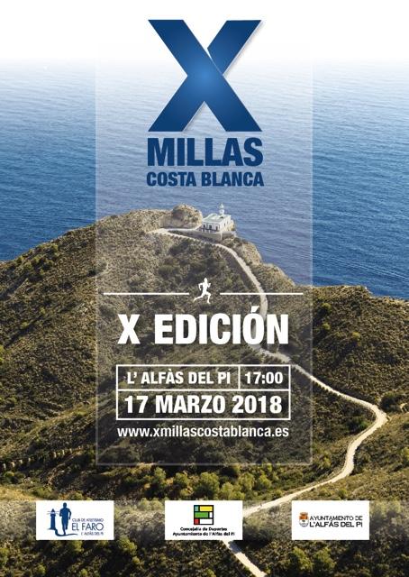 El miércoles próximo se presentarán las X millas más bonitas de la Costa Blanca