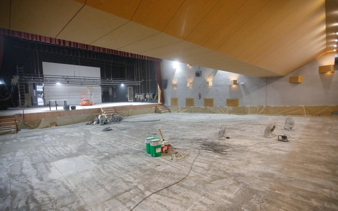 Obras de remodelación en el auditorio de la Casa de Cultura de l'Alfàs