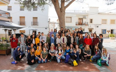 Una veintena de estudiantes europeos visitan l'Alfàs en el marco del programa Erasmus +