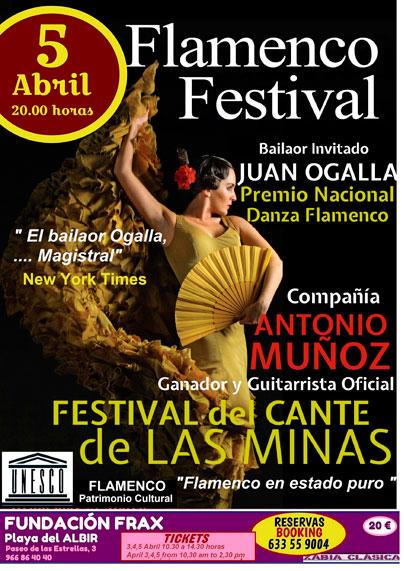 Festival Flamenco este jueves en la Fundación Frax de l'Albir