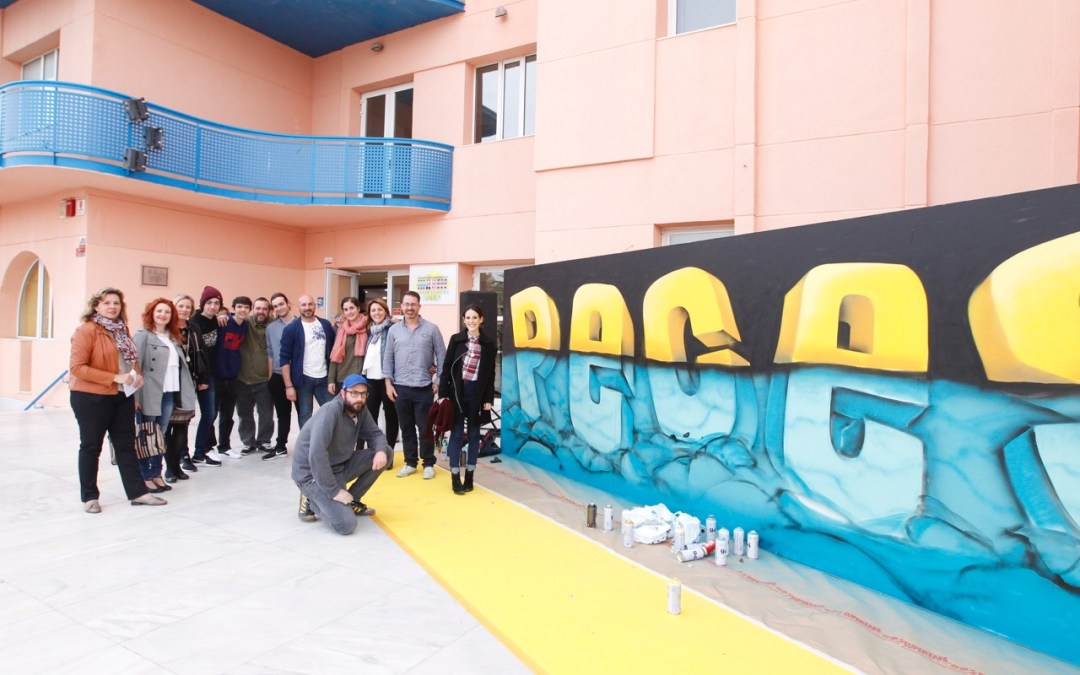 Chokone aporta su arte urbano a los Premios PECES de l'Alfàs