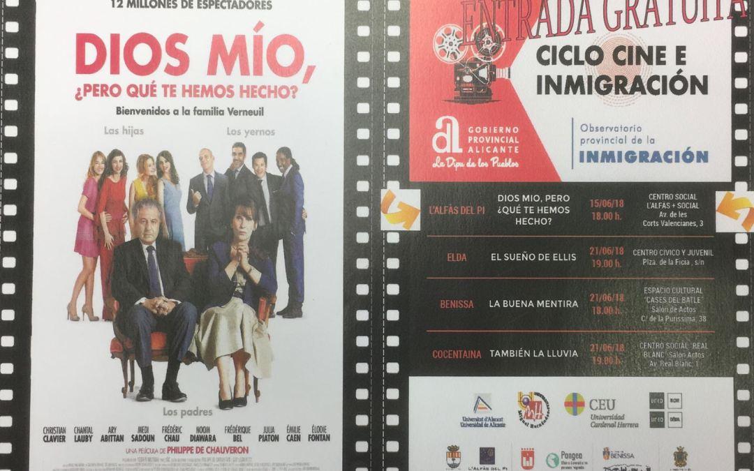 El ciclo 'Cine e Inmigración' de la Diputación llega mañana a l'Alfàs