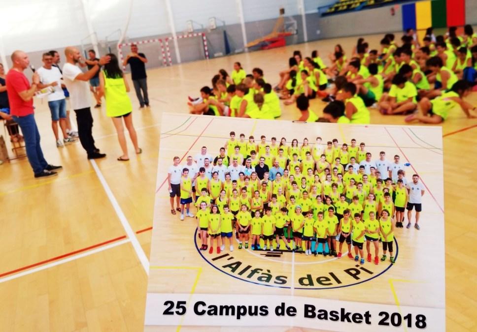 Clausurado  el XXV campus de basket de L'Alfàs del Pi que ha contado con  100 participantes.