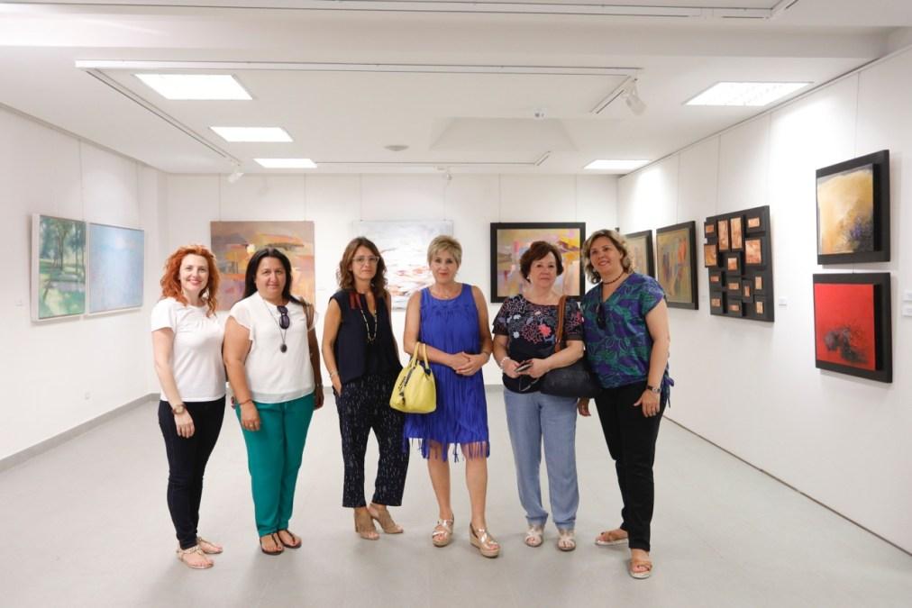 Teresa Brotons, Sari Miró y Rosa Ripoll  en la Fundación Frax de l'Albir