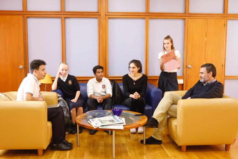 Los periodistas del futuro entrevistan al alcalde de l'Alfàs del Pi