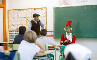 El Duende de la Cantera anima a los escolares a participar en el Día del Árbol