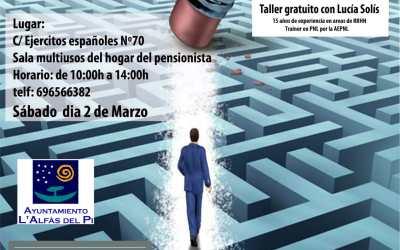 Taller gratuito de empleabilidad este sábado en el Hogar del Pensionista