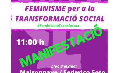 Igualdad fleta un autobús gratuito para asistir a la manifestación del 8 de marzo en Alicante
