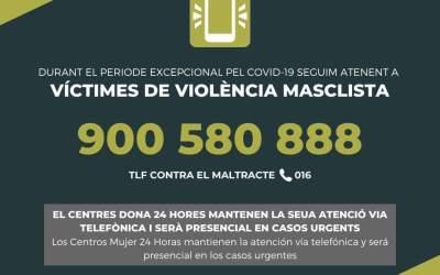 Igualdad informa de cómo actuar en caso de violencia de género durante el confinamiento domiciliario