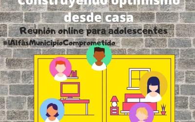 Cooperación organiza una reunión virtual con adolescentes para compartir vivencias del confinamiento