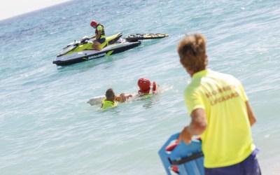 La playa del Racó de l'Albir vive un simulacro de emergencia