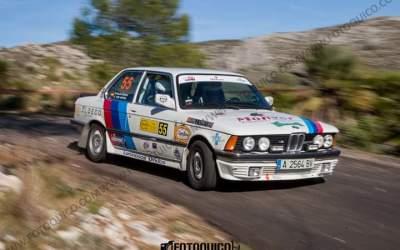 Los pilotos alfasinos Carlos y Hugo Montero lo dan todo en un difícil Rallye de Xixona