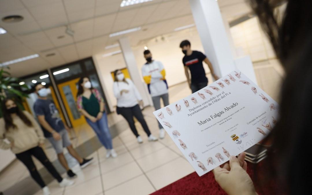 Finaliza el Curso de Lengua de Signos organizado por la concejalía de Juventud de l'Alfàs