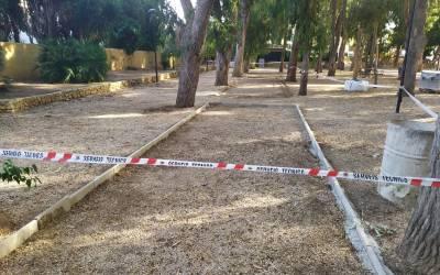 L'Alfàs acondiciona 3 nuevas pistas de petanca en el parque de Los Eucaliptos de l'Albir