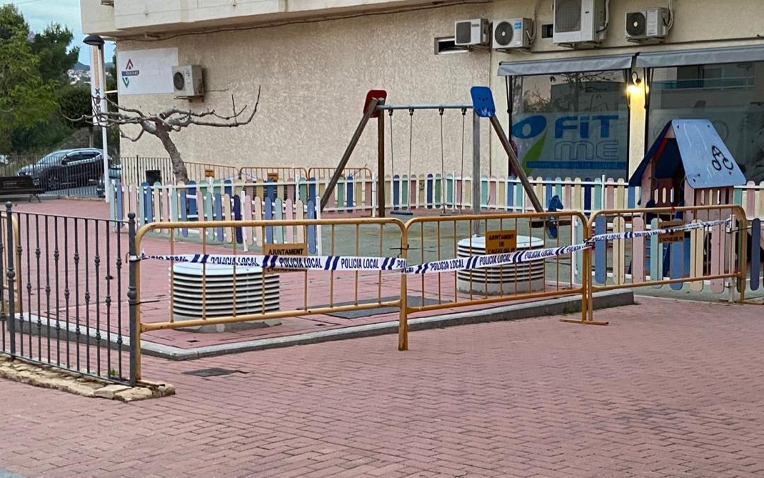 La Policía Local de l'Alfàs cierra los parques infantiles