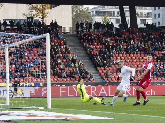 Kramer opens the scoring for FCZ © KEYSTONE / ENNIO LEANZA