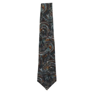 Henry Grethel silk tie with an abstract design