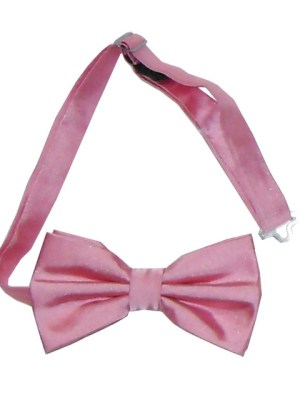 Pale pink bow tie made from silk.