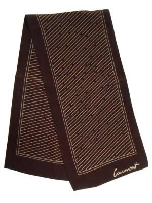 Vintage 1960s designer silk scarf by Jean Baptiste Caumont