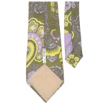 Altesse Paris floral design acetate twill tie