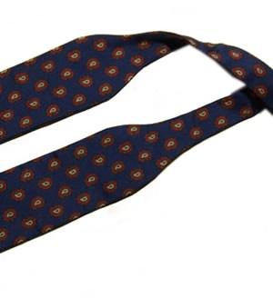 Paisley design silk self tie bowtie