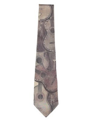 Guitar Design Silk Tie