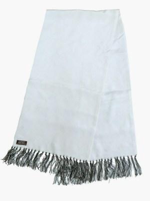 Vintage Sammy long white evening dress scarf.