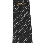 Cecil Gee vintage black and white silk tie