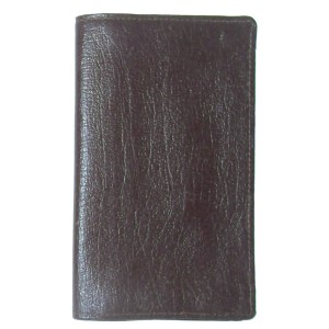 Dark brown vintage grained leather wallet