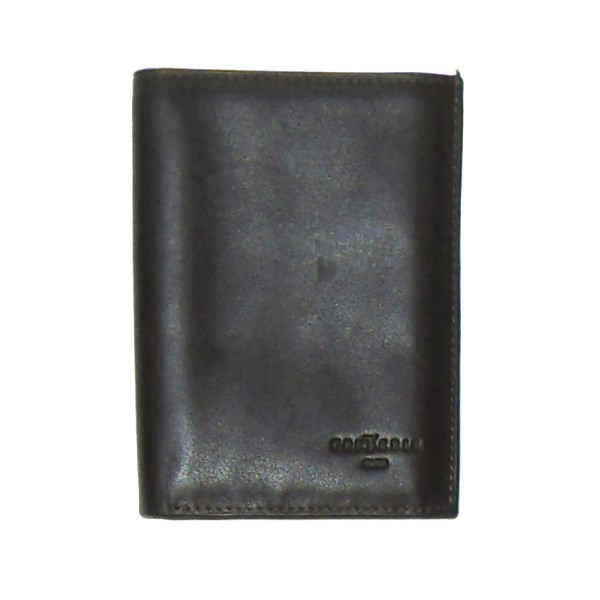 Frederic T Paris soft brown leather bifold wallet