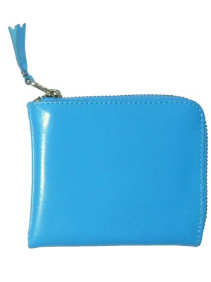 Comme Des Garcons blue leather coin wallet