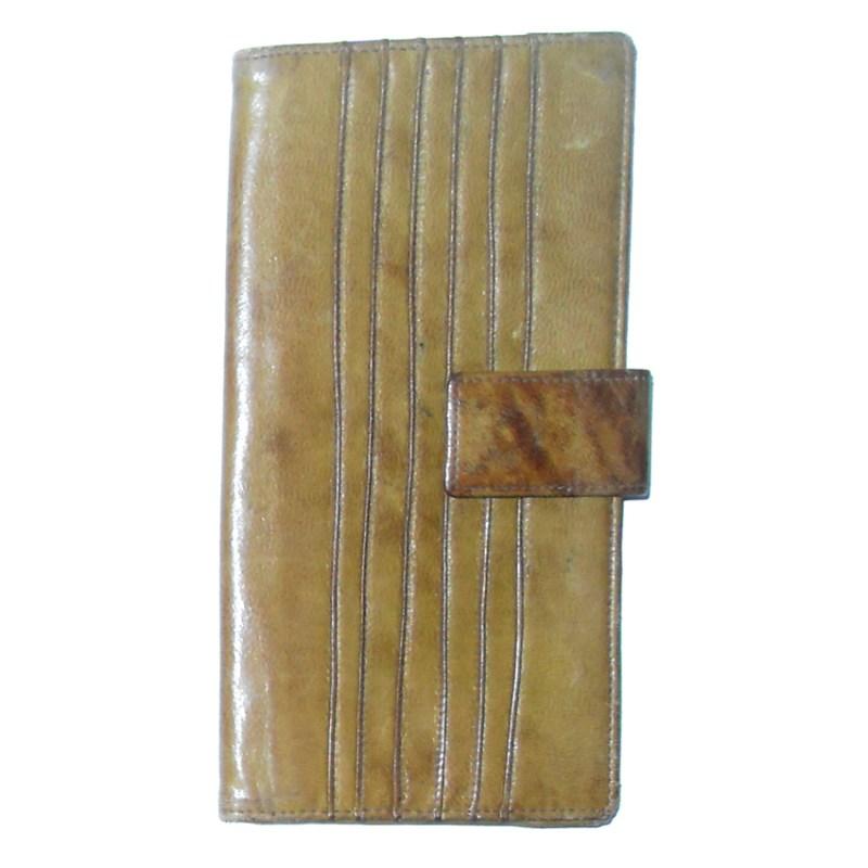 Italian ochre leather wallet