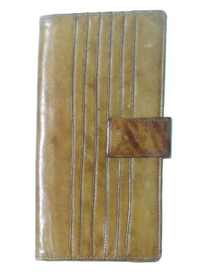Italian ochre leather wallet
