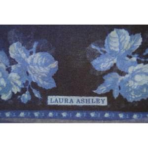 Laura Ashley dark blue small chiffon scarf with a design of roses
