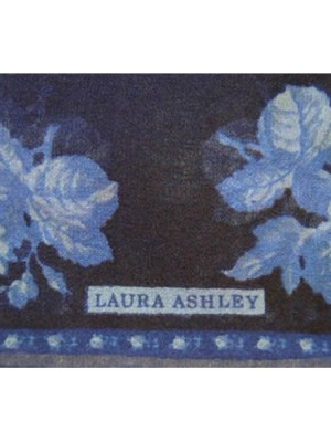 Laura Ashley dark blue small chiffon scarf with a design of roses