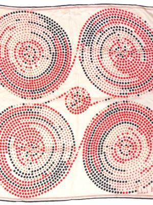 Richard Allan spot design silk scarf