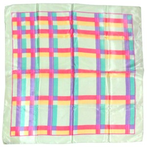 Echo silk scarf with a design of brightly coloured squares