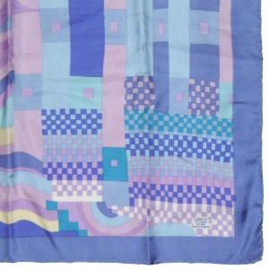 Vintage Liberty silk scarf with an art deco desginin mauves and blues