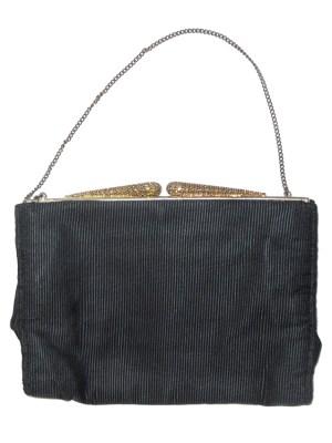 Vintage framed evening bag with bead and crystal design