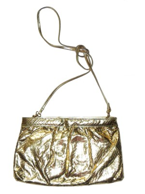 Saks Fifth Avenue gold snakeskin bag
