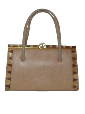 Vintage Harmon handbag with snakeskin trim